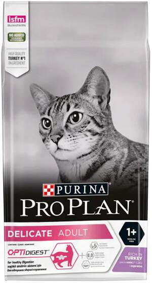 Pro Plan Delicate Hindili ve Pirinçli Hassas Seçici Yetişkin Kediler için Kedi Maması 1,5kg