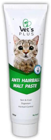 Vet's Plus Anti Hairball Sağlıklı Tüyler için Malt Kedi Macunu 100gr