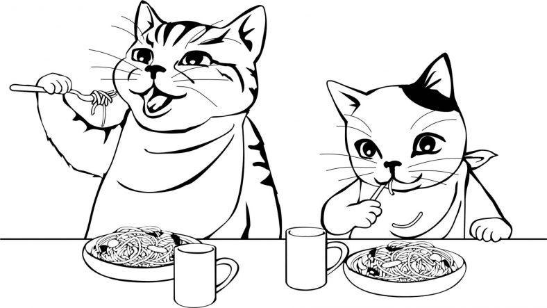 Makarna Yiyen Kediler